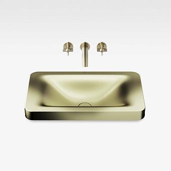 Armani Roca Baia Раковина 66x42 см, без отв., встраиваемая сверху, со скр. переливом, цвет: shagreen matt gold