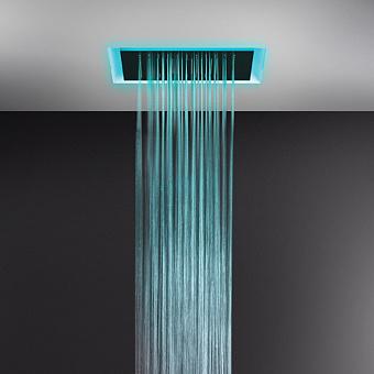 Gessi Afilo Встраиваемая душевая система 500х500мм, троп.ливень, водопад, распыление, хромотерапия, пульт ду, цвет: белый