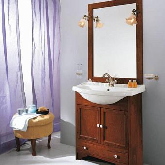 EBAN Carla Комплект мебели, с раковиной, зеркалом и светильниками, 75см, цвет noce