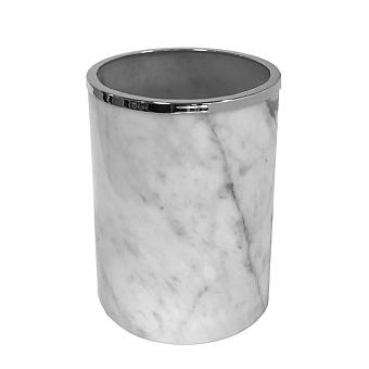 3SC Elegance Ведро без крышки 20х20хh28см, цвет: мрамор bianco carrara/хром
