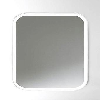 Agape Memory Квадратное зеркало c рамкой, и внутренней LED подсветкой, цвет: белый