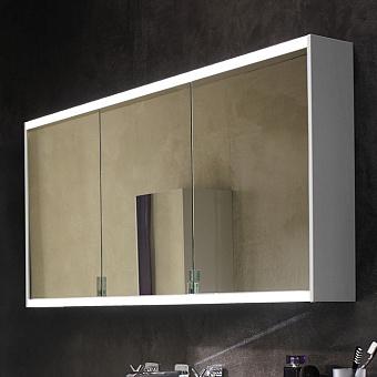 Burgbad Yso Зеркальный шкаф 122x65.6см, с подсветкой, цвет: белый матовый