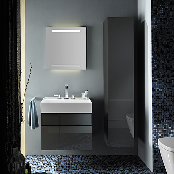Burgbad Yumo Комплект подвесной мебели 66x47x64 см, серый
