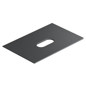 Catalano Horizon Столешница керамическая 75х25хh11см, подвесная/накладная, цвет: черный глянцевый