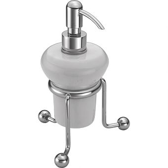 HUBER Croisette Дозатор настольный, цвет хром/керамика
