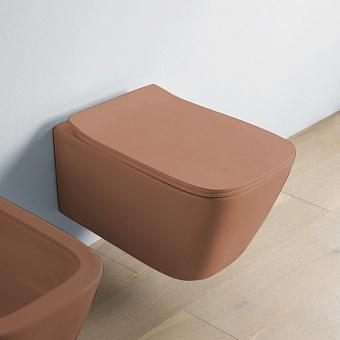 Artceram A16 Унитаз подвесной 52х36 см, безободковый, в комплекте с крепежом, цвет: Brown tortora