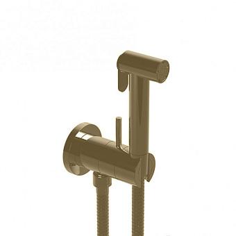 HUBER Shower Гигиенический душ со шлангом 120 см,вывод с держателем и встроенный прогрессивный картридж, цвет никель полированный