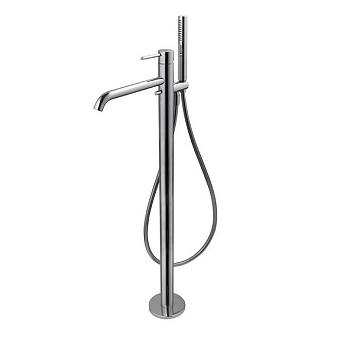 Noken Round Смеситель для ванны/душа напольный с ручным душем, цвет: хром