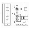 Zucchetti Jingle Встроенный термостатический смеситель для душа, с запорным клапаном, цвет: хром