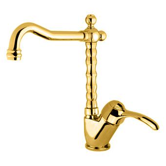 Webert Aurora Смеситель для раковины, на 1 отв., с донным клапаном, цвет: золото