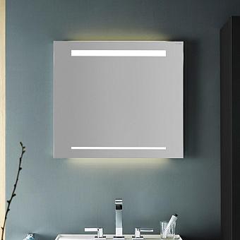 Burgbad Зеркало с подсветкой 70х64х2.5см , сенсорный выкл.с регулировкой силы света, IP24, цвет: алюминий