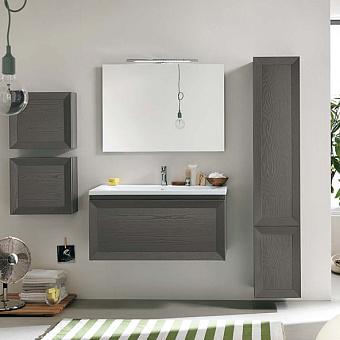 EBAN Paola 100 Комплект мебели, с 1 выдвижным ящиком, 100*47*48,5см,  Цвет: grigio ardesia