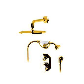"""Petracers Divino, Комплект кранов для душа для встроенной установки 1/2"""", цвет: золото"""