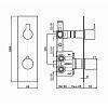 """Zucchetti On Встроенный 1/2"""" термостатический смеситель для душа, с запорным клапаном, цвет: хром"""