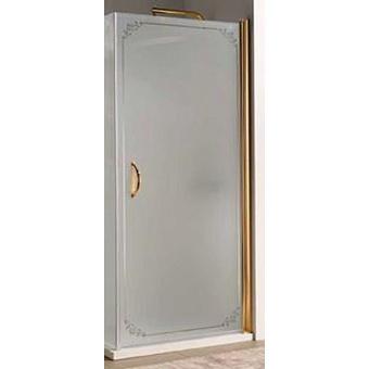 SAMO FDT Душевая дверь 86-88хh190 (монтируется с аналогичной дверью или боков стеной), проф. бронза, прозрачное стекло, ручка бронза