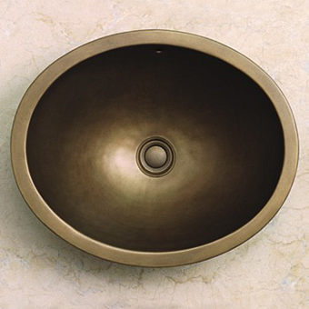 Herbeau Loire Раковина 45.5х32.5 см, без отв., цвет: состаренная латунь