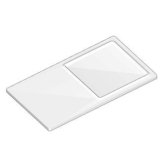 Agape Dot line Полочка с мыльницей, цвет: белый