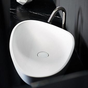 Agape Drop Раковина накладная 67x44.2x18 см, без отв., цвет: белый