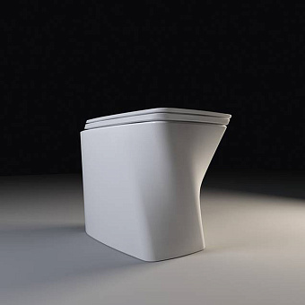 Azzurra Hera Унитаз напольный приставной 57х38х42 см, слив универсальный, покрытие Easy-Clean, цвет белый
