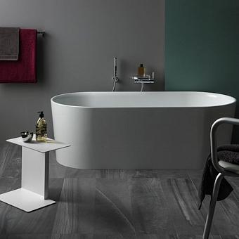 Laufen VAL Ванна 1600x750x450мм, отдельностоящая, с слив-переливом, материал: композит, цвет: белый