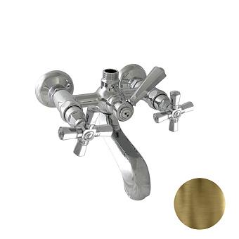 """Nicolazzi Teide Four Смеситель для ванны на 2 отверстия, с переключателем ванна/душ, вывод сверху 3/4"""" (для душ. стойки), цвет: бронза"""