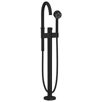 Axor One Смеситель для ванны, напольный, с душевым гарнитуром, цвет: черный матовый
