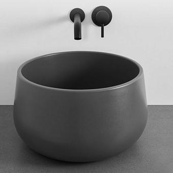 Cielo Tino&Tina Раковина накладная 45xh26 см, круглая, цвет: серый