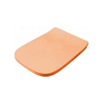 Artceram A16 Сиденье для унитаза с микролифтом, цвет: arancio cammeo, петли: хром