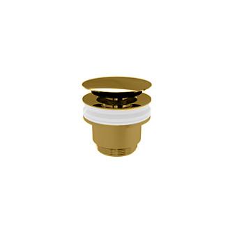 Devon&Devon Донный клапан CLICK-CLACK без перелива, цвет: латунь глянцевая