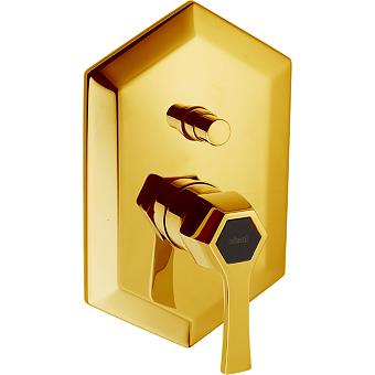 CISAL Cherie Однорычажный смеситель для ванны/душа, цвет золото/черный матовый