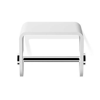 Decor Walther Stone TPH4 Держатель туалетной бумаги, подвесной, цвет: белый / хром