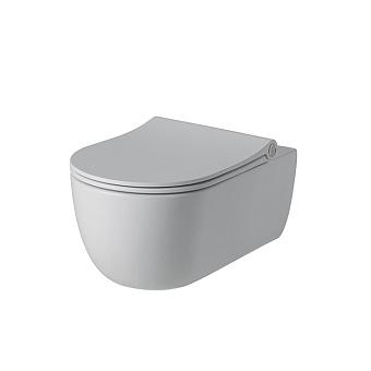 Noken Acro Compact Унитаз подвесной 54x35см, сиденье с микролифтом, цвет: белый матовый