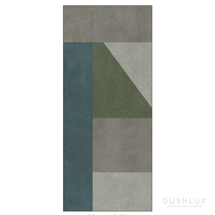 Ornamenta Operae Керамическая плитка 120х278см, настенная, декор: Plaster Green