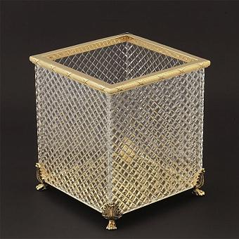 Cristal et Bronze Prestige Корзинка из рифленого стекла на львиных лапах