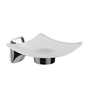 Bertocci Leger Мыльница подвесная, цвет: матовое стекло/хром