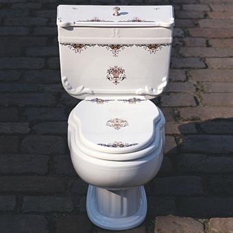 Herbeau Charleston Унитаз моноблок, цвет белый с декором в стиле прованс