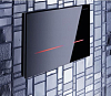 Geberit Смывная клавиша Sigma80, для двойного смыва, бесконтактная, черное стекло