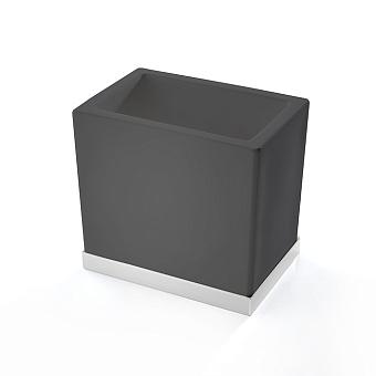 3SC Mood Deluxe Стакан настольный, композит Solid Surface, цвет: чёрный матовый/белый матовый