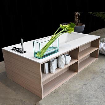 Antonio Lupi Biblio Ванна прямоугольная 190х100х53.5 см в комплекте с регулируемыми ножками и нажимным донным клапаном.