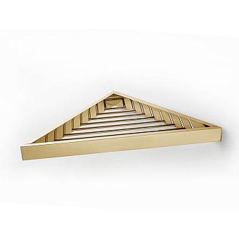 3SC SK Полочка-решетка 36х18хh3см, угловая, цвет: золото 24к. Lucido