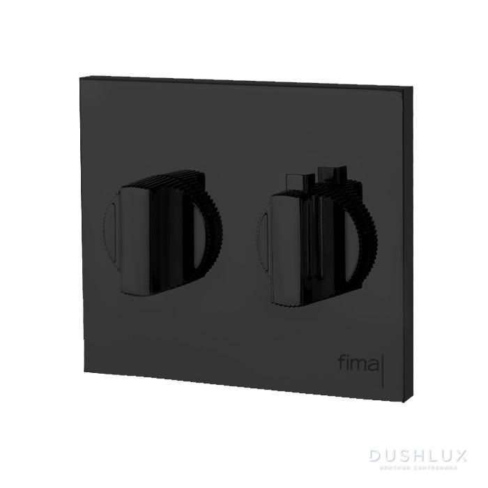 Carlo Frattini Switch Смеситель для душа встраиваемый, термостатический, с регулировкой напора, внешняя часть, цвет: черный матовый