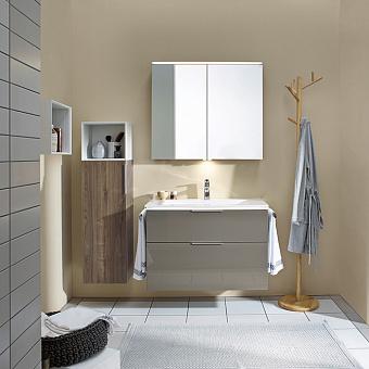 Burgbad Eqio Комплект мебели с раковиной 930 мм, цвет: серый глянец