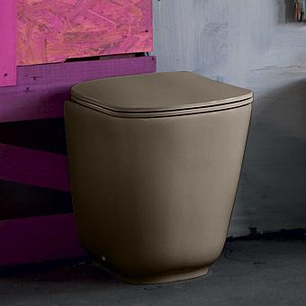 Kerasan Tribeca Унитаз напольный пристенный 55 см, безободковый, c креплением WB5N, цвет: Nocciola