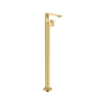 Axor Edge Смеситель для раковины, напольный, с донным клапаном push/open, излив 235мм, цвет: золото