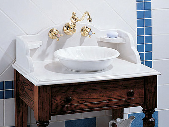 Herbeau Bonne Maman Раковина 36 см, без отв., цвет: белый