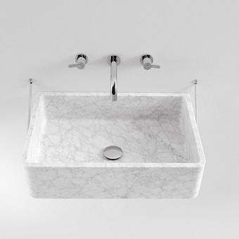 Agape Carrara Раковина 60x40x16 см, без отв., подвесная, мрамор Carrara, цвет: белый