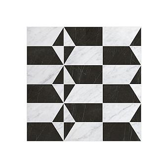 Devon&Devon Elite Плитка из натурального камня 60x60см, универсальная, мрамор, elite 13, цвет: white carrara/black marquinha