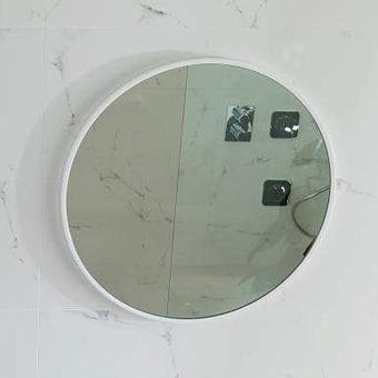 Noken Lounge Зеркало Ø60 cм. с рамой из лакированного дерева, цвет: белый