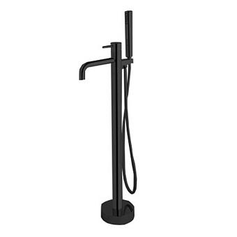 Carlo Frattini Spillo Up Смеситель для ванны напольного монтажа, с ручным душем и шлангом 1500 мм., цвет: чёрный матовый