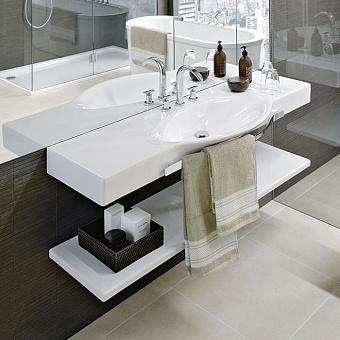 Laufen Palace Раковина 150x51x11 см, 1 отв., подвесная/накладная, с полотенцедержателем, цвет: белый